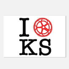 I Bike KS Postcards (Package of 8)