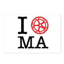 I Bike MA Postcards (Package of 8)