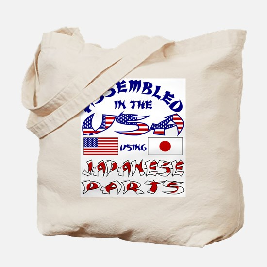 USA/Japanese Parts Tote Bag