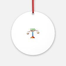LIBRA SCALES Ornament (Round)