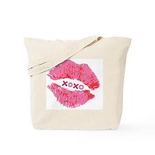 Pink Lips XOXO Tote Bag
