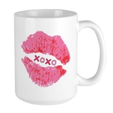 Pink Lips XOXO Ceramic Mugs