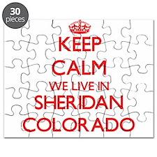 Keep calm we live in Sheridan Colorado Puzzle