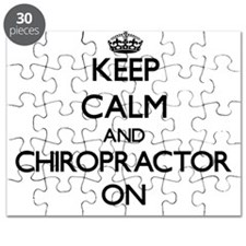 Keep Calm and Chiropractor ON Puzzle