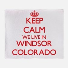 Keep calm we live in Windsor Colorad Throw Blanket