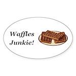 Waffles Junkie Sticker (Oval 10 pk)