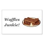 Waffles Junkie Sticker (Rectangle 50 pk)
