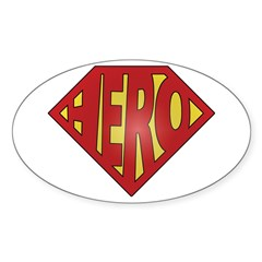 SuperHero Oval Decal