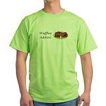 Waffles Addict Green T-Shirt