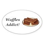 Waffles Addict Sticker (Oval 10 pk)