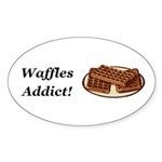 Waffles Addict Sticker (Oval 50 pk)