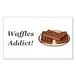 Waffles Addict Sticker (Rectangle 50 pk)