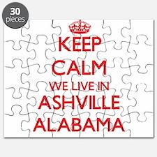 Keep calm we live in Ashville Alabama Puzzle