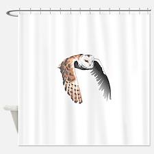 BARN OWL IN FLIGHT Shower Curtain