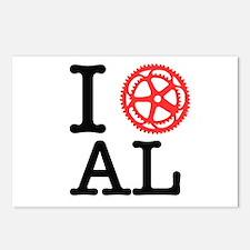 I Bike AL Postcards (Package of 8)