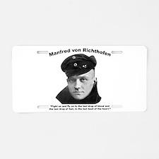 Richthofen: Fight Aluminum License Plate