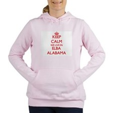 Keep calm we live in Elb Women's Hooded Sweatshirt