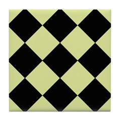 Pale Lime Green 8 Tile Coaster