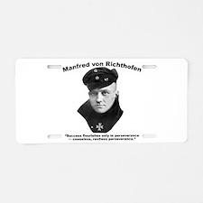 Richthofen: Success Aluminum License Plate