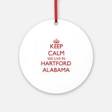 Keep calm we live in Hartford Ala Ornament (Round)