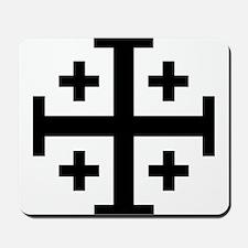Crusader cross Mousepad