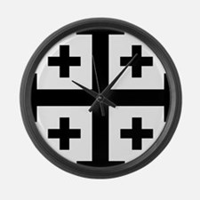 Crusader cross Large Wall Clock