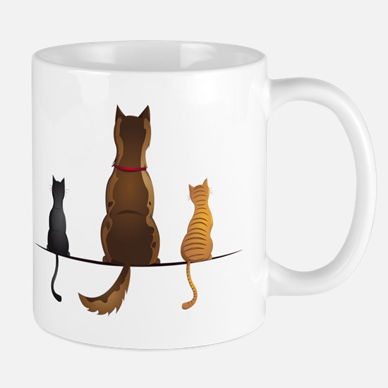 cats and dog Mug
