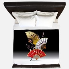 Japanese Cherry Fans King Duvet