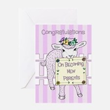 New Baby Girl Congratulations Card Greeting Cards