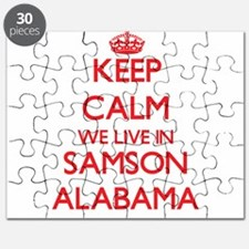 Keep calm we live in Samson Alabama Puzzle