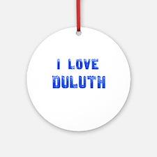 I Love Duluth Ornament (Round)