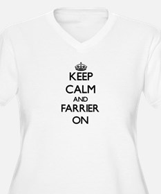 Keep Calm and Farrier ON Plus Size T-Shirt
