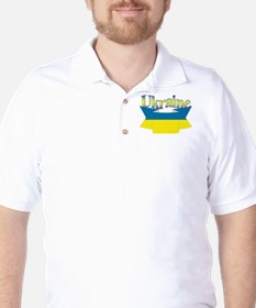Ukrainian ribbon Golf Shirt