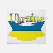 Ukrainian ribbon Throw Blanket