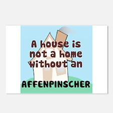 Affenpinscher Home Postcards (Package of 8)