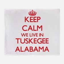 Keep calm we live in Tuskegee Alabam Throw Blanket