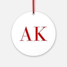 AK-bod red2 Ornament (Round)