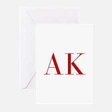 AK-bod red2 Greeting Cards