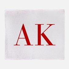 AK-bod red2 Throw Blanket
