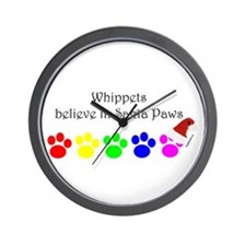 Whippets Believe Wall Clock