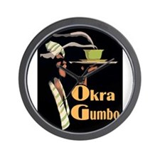 Okra Gumbo Wall Clock