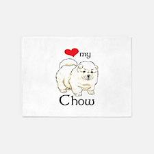 LOVE MY CHOW 5'x7'Area Rug