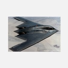 B2 Stealth Bomber In Flight Rectangle Magnet