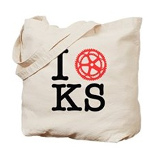I Bike KS Tote Bag