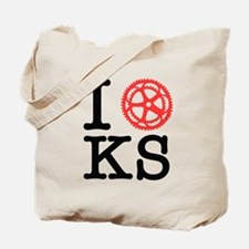 I Bike KS Tote Bag