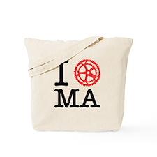 I Bike MA Tote Bag