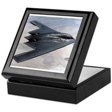 B2 Stealth Bomber In Flight Keepsake Box