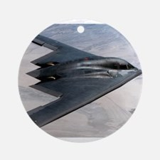 B2 Stealth Bomber In Flight Ornament (Round)