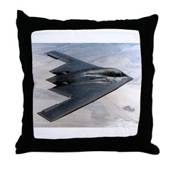 B2 Stealth Bomber In Flight Throw Pillow
