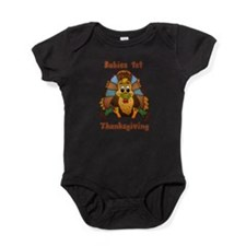 Babies 1st Thanksgiving With Turkey Baby Bodysuit